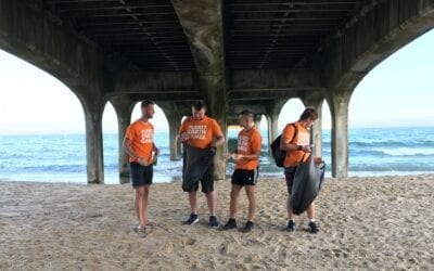 LITTER PICKING ON BOURNEMOUTH BEACH